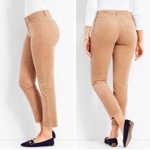 NWOT Talbots Flawless Frayed Hem Corduroy Pants 8